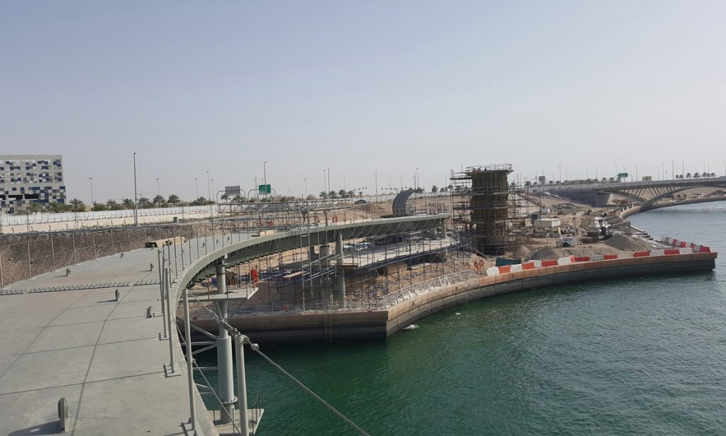 Al Raha Beach Bridge Installation